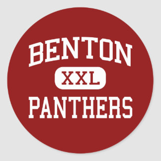 Benton - Panthers - High School - Benton Arkansas Classic Round Sticker