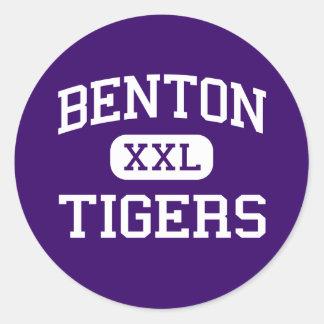 Benton - Tigers - High School - Benton Louisiana Classic Round Sticker