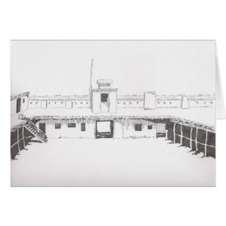 Bent's Fort Greeting Card