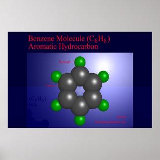 Benzene Molecule (print) Poster