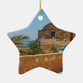 Berber village in Tunisia. Ceramic Star Ornament