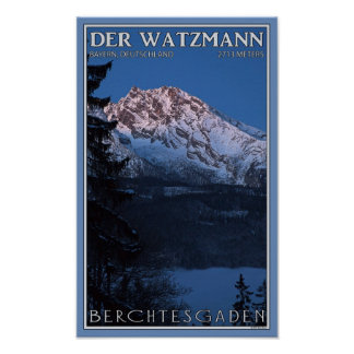 Berchtesgaden - Early Morning Watzmann Poster