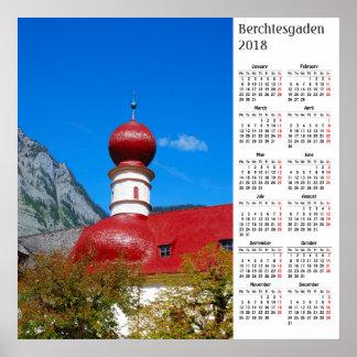 Berchtesgaden, Germany 2018 calendar Poster