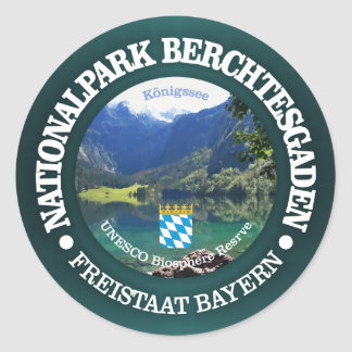 Berchtesgaden National Park Classic Round Sticker