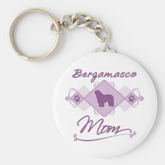 Bergamasco Mom Keychain