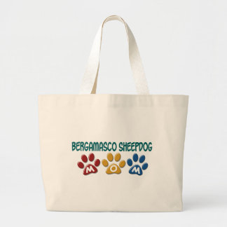 BERGAMASCO SHEEPDOG MOM Paw Print 1 Canvas Bags