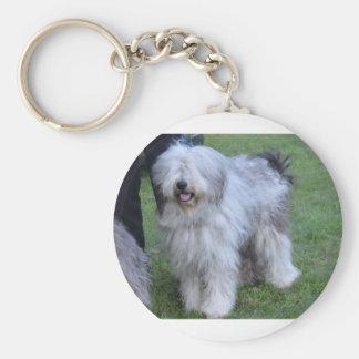 Bergamasco Shepherd Dog Basic Round Button Keychain