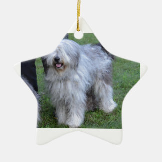 Bergamasco Shepherd Dog Ceramic Star Ornament