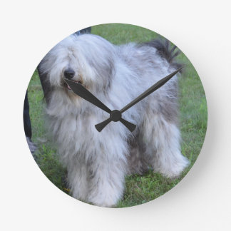 Bergamasco Shepherd Dog Round Clock