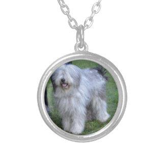 Bergamasco Shepherd Dog Silver Plated Necklace