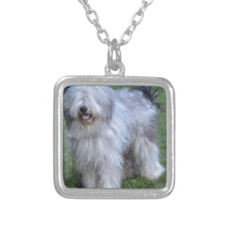 Bergamasco Shepherd Dog Silver Plated Necklace