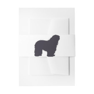 bergamasco_silhouette color invitation belly band