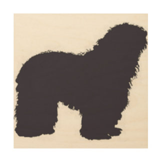 bergamasco_silhouette color wood print