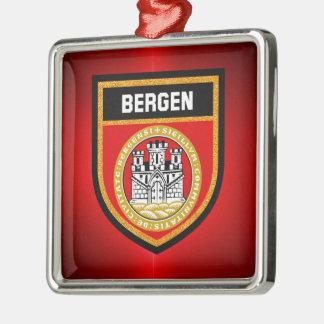 Bergen Flag Metal Ornament