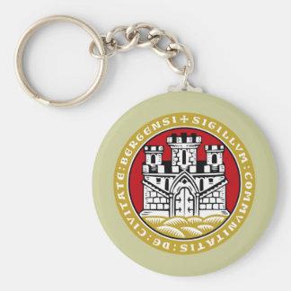Bergen komm, Norway Basic Round Button Keychain