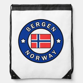 Bergen Norway Drawstring Bag