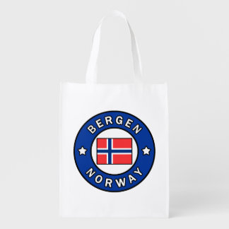 Bergen Norway Reusable Grocery Bag