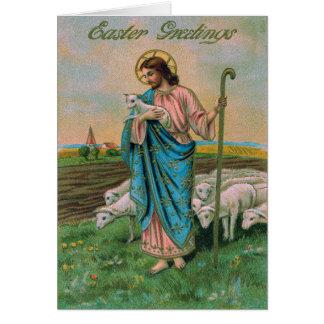 Berger d'agneau de Jésus-Christ Carte De Vœux