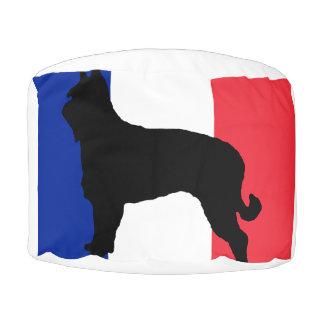 berger picard silo France flag Pouf