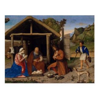 Berger plein d'adoration carte postale