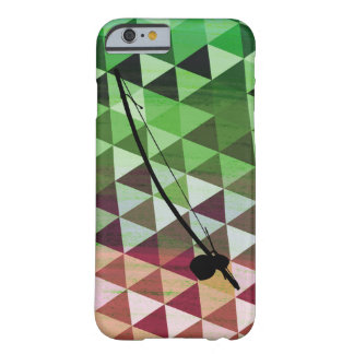 Berimbau on a colourful geometric background barely there iPhone 6 case