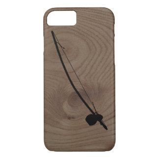 Berimbau on a woodgrain background iPhone 7 case