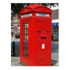 Beritish telephone box postcard