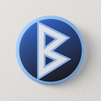 Berkana Beorc Rune 2 Inch Round Button