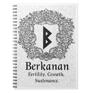 Berkanan Rune /Fertility / White Version Notebook