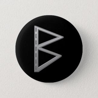 Berkano Rune grey 2 Inch Round Button