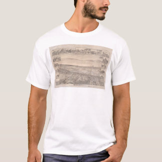 Berkeley, CA. Panoramic Map 1891 (0099A) -Restored T-Shirt