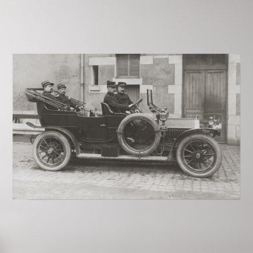 Berliet vintage car photo reproduction poster