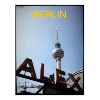 Berlin Alexander Platz TV Tower Postcard