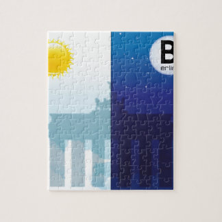 Berlin at day and night - Brandenburger gate Jigsaw Puzzle