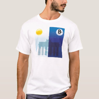 Berlin at day and night - Brandenburger gate T-Shirt