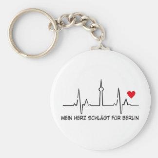 Berlin Basic Round Button Keychain