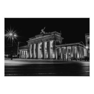 Berlin Brandenburger gate at night Photo Print