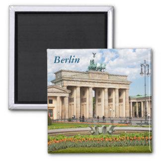 Berlin Brandenburger Tor Square Magnet
