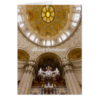 Berlin Cathedral vertical Christmas card