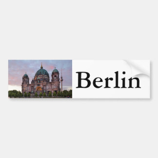 Berlin Cathedral with Television Tower and Lustgar Bumper Sticker