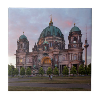 Berlin Cathedral with Television Tower and Lustgar Ceramic Tiles