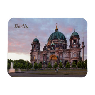 Berlin Cathedral with Television Tower and Lustgar Rectangular Photo Magnet
