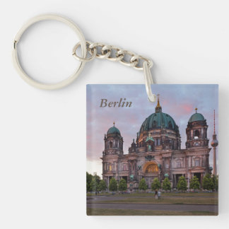 Berlin Cathedral with Television Tower and Lustgar Single-Sided Square Acrylic Keychain