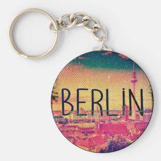 Berlin, circle keychain