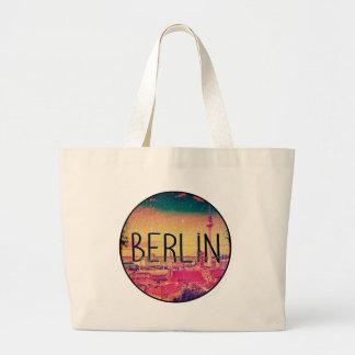 Berlin, circle large tote bag