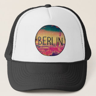 Berlin, circle trucker hat
