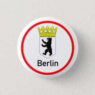 Berlin city arms 1 inch round button