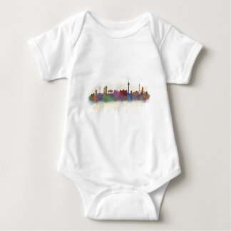 Berlin City Germany. Deutsche Skyline art v2 Baby Bodysuit