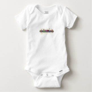 Berlin City Germany. Deutsche Skyline art v2 Baby Onesie