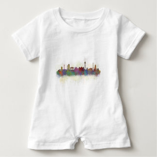 Berlin City Germany. Deutsche Skyline art v2 Baby Romper